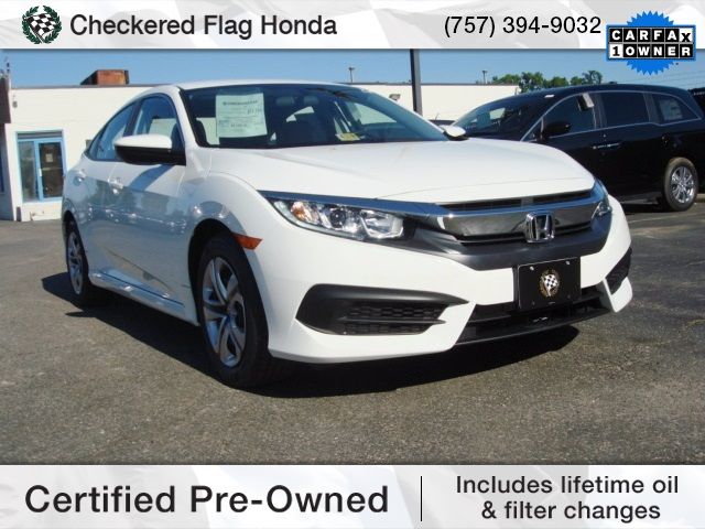 Certified Pre Owned 2017 Honda Civic Lx